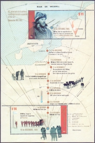 South Pole Expedition, souvenir sheet, MINT, 2014