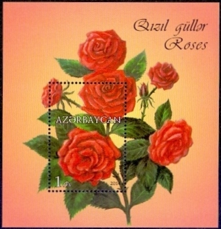 Roses, souvenir sheet - 1 stamp, MINT, 2014
