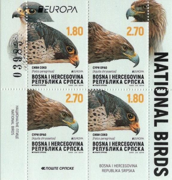 Golden eagle (Aquila chrysaetos), souvenir sheet, MNH, 2019