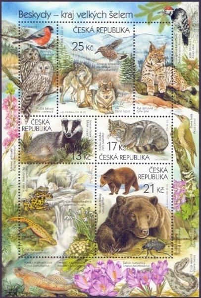 Nature Protection - Beskid Mountains, souvenir sheet, MINT, 2014