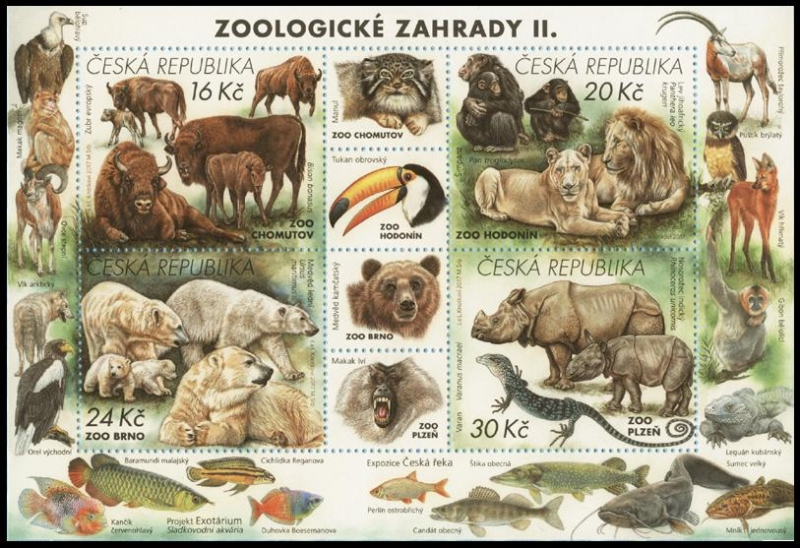 Nature Protection: Zoological Gardens (2nd Part), souvenir sheet, MINT, 2017