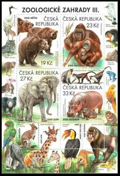 Nature Protection: Zoological Gardens (3rd Part), souvenir sheet, MINT, 2018