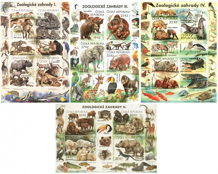 Nature Protection: Zoological Gardens, set of 4 souvenir sheets, MINT, 2016-2019 years