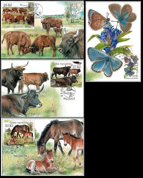 Nature Protection: Milovice, set of 4 maximum cards, 2021