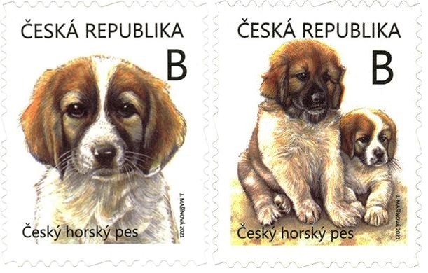 Czech mountain dog (Canis lupus familiaris), set of 2  self-adhesive stamps, MNH, 2021