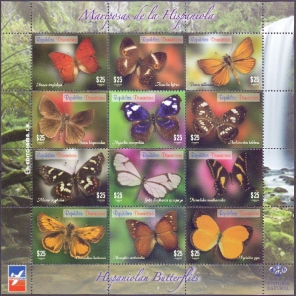 Hispaniolan Butterflies, souvenir sheet, MINT, 2014