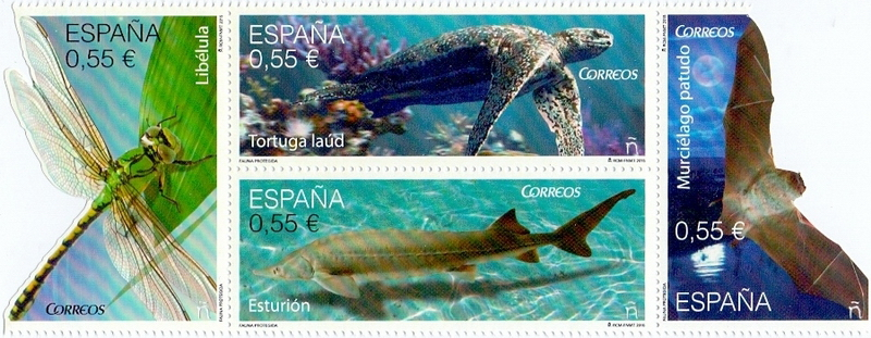 Fauna of Spain, set of 4 stamps, MINT, 2015