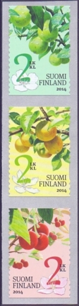 Garden Fruits, set of 3 self-adhesive stamps, MINT, 2014