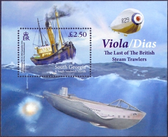 Ship and Submarine, souvenir sheet, MINT, 2015