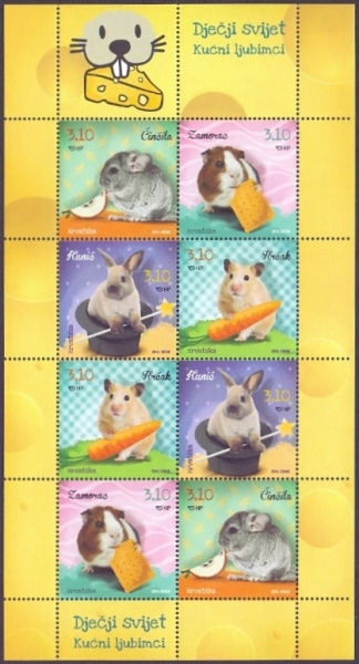 Pets - Rodents, souvenir sheet, MINT, 2014