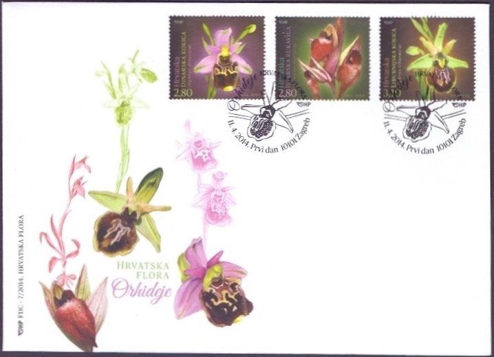 Orchids, FDC, 2014