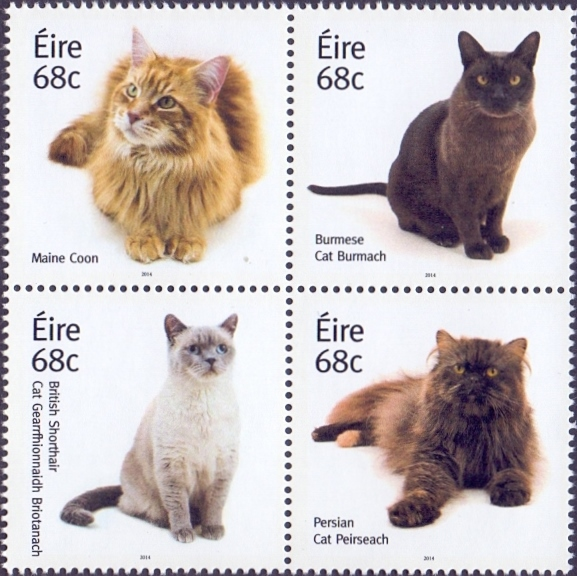 Cats, set of 4  stamps, MINT, 2014