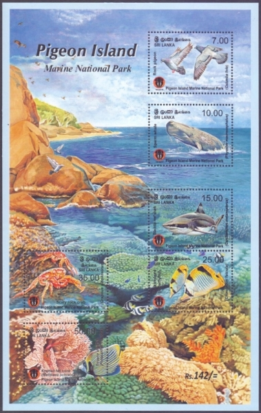 Pigeon Island Marine National Park, souvenir sheet, MINT, 2014