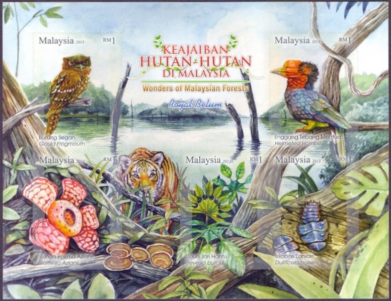 Wonders of Malaysian Forests - Royal Belum, souvenir sheet, MINT, 2013