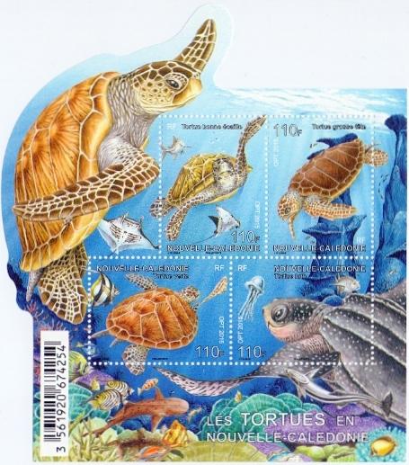 Turtles of New Caledonia, souvenir sheet, MNH, 2015