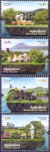 Bees from Azores, set of 4 stamps, MINT, 2013