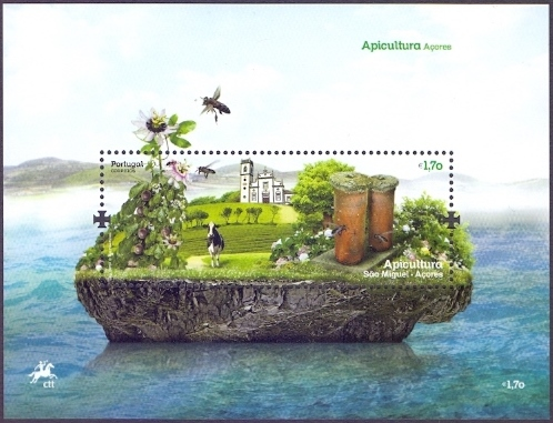 Bees from Azores - 1, souvenir sheet, MINT, 2013