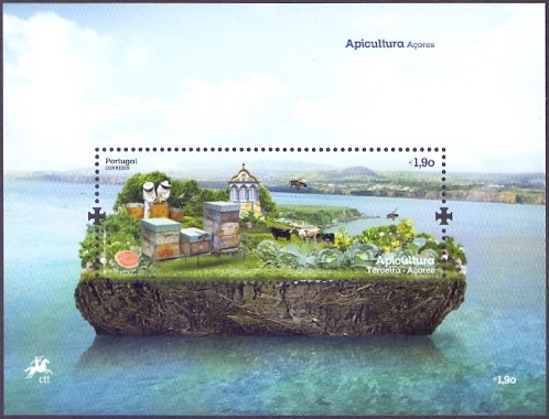 Bees from Azores - 2, souvenir sheet, MINT, 2013