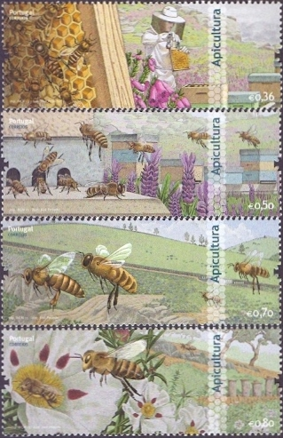 Bees from Portugal, set of 4 stamps, MINT, 2013