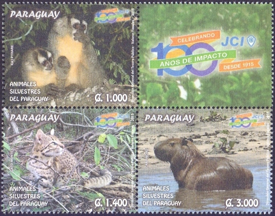 Fauna of Paraguay, set of 3 stamps, MINT, 2015