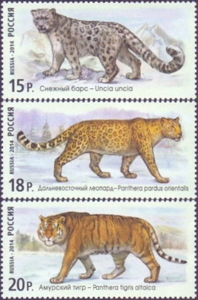 Wild Cats 2nd Issue, set of 3 stamps, MINT, 2014