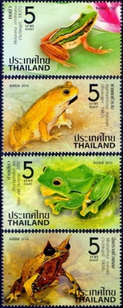 Amphibians, set of 4 stamps, MINT, 2013