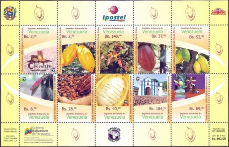 Cocoa´s national day - Choccolate, souvenir sheet, MNH, 2015