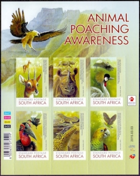 Animal Poaching Awareness, souvenir sheet, MINT, 2015