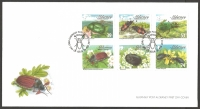 Aiderney Beetles, FDC with stamps, 2013