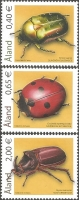 Beetles, set of 3 stamps, MINT, 2006