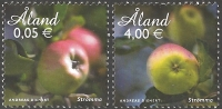 Aland apples, set of 2 stamps, MINT, 2011