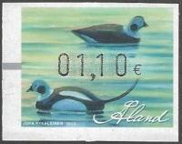 Eider duck (old wooden duck decoys), franking label, MINT, 2013
