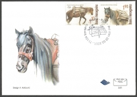 Horses, FDC, 2001