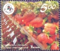 Strawberries, stamp, MINT, 2009