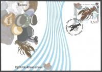 Fauna - Crayfish, FDC, 2011
