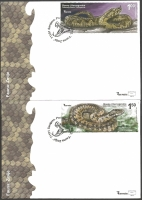 Fauna - Snake, set of 2 FDCs, 2012