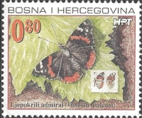 The Fauna of BiH: Red Admiral (Vanessa atalanta), MINT, 2002