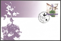 The Flora of BiH: Dinarian Kandilka (Aquilegia dinarica), maximum card, 2004