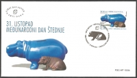 Day of savings - Hippopotamus (Hippopotamus amphibius), FDC, 2004