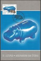 Day of savings - Hippopotamus (Hippopotamus amphibius), maximum card, 2004
