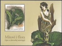 Flora in Myth - Linden leaves and flowers, souvenir sheet, MINT, 2010