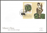 Flora in Myth - Linden leaves and flowers, FDC, 2010