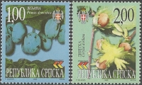 Plum (Prunus domesticus) and Hazelnut (Corylus avellana), set of 2 stamps, MINT, 2000