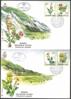 Flowers, set of 2 FDCs, 2004
