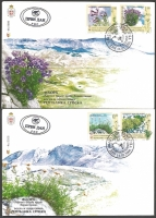 Flowers, set of 2 FDCs, 2006