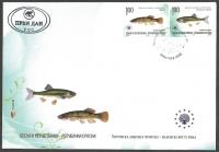 Nature protection: Fish - Trebinjska minnow and European dogfish, FDC, 2010