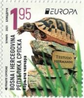 Chanchares (Testudo hermanni), stamp, MNH, 2021