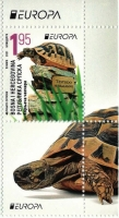 Chanchares (Testudo hermanni), stamp with label, MNH, 2021