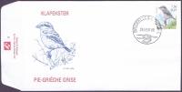 Great Grey Shrike (Lanius excubitor), FDC, 2001