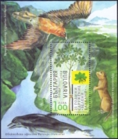 Bird of Prey and Dolphin, souvenir sheet, MINT, 2013